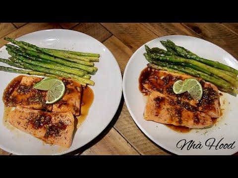 Vlog 166| Cá Hồi Áp Chảo Sốt Tiêu Chanh Ngon Xuất Thần.Pan Fried Salmon With Lime Sauce.