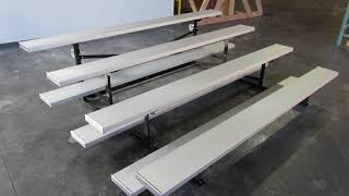 First Team Fanstand Indoor Tip-N-Roll Bleachers