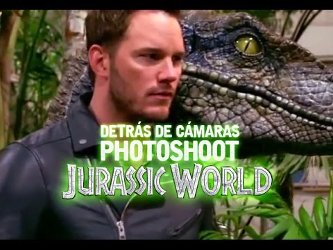 Detrás de cámaras al photoshoot de Jurassic World