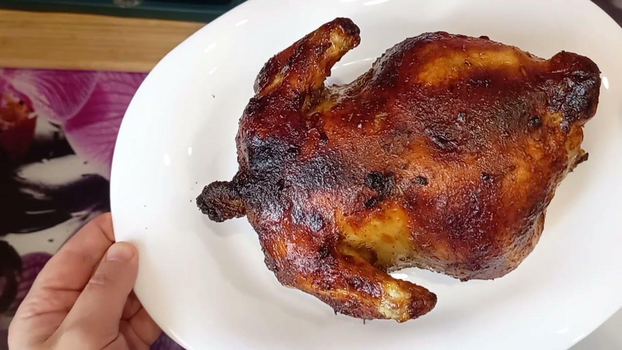 Как приготовить сочную курицу гриль   Курица с хрустящей корочкой