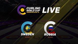 Sweden v Russia - Women - Curling World Cup - Jonkoping, Sweden - third leg