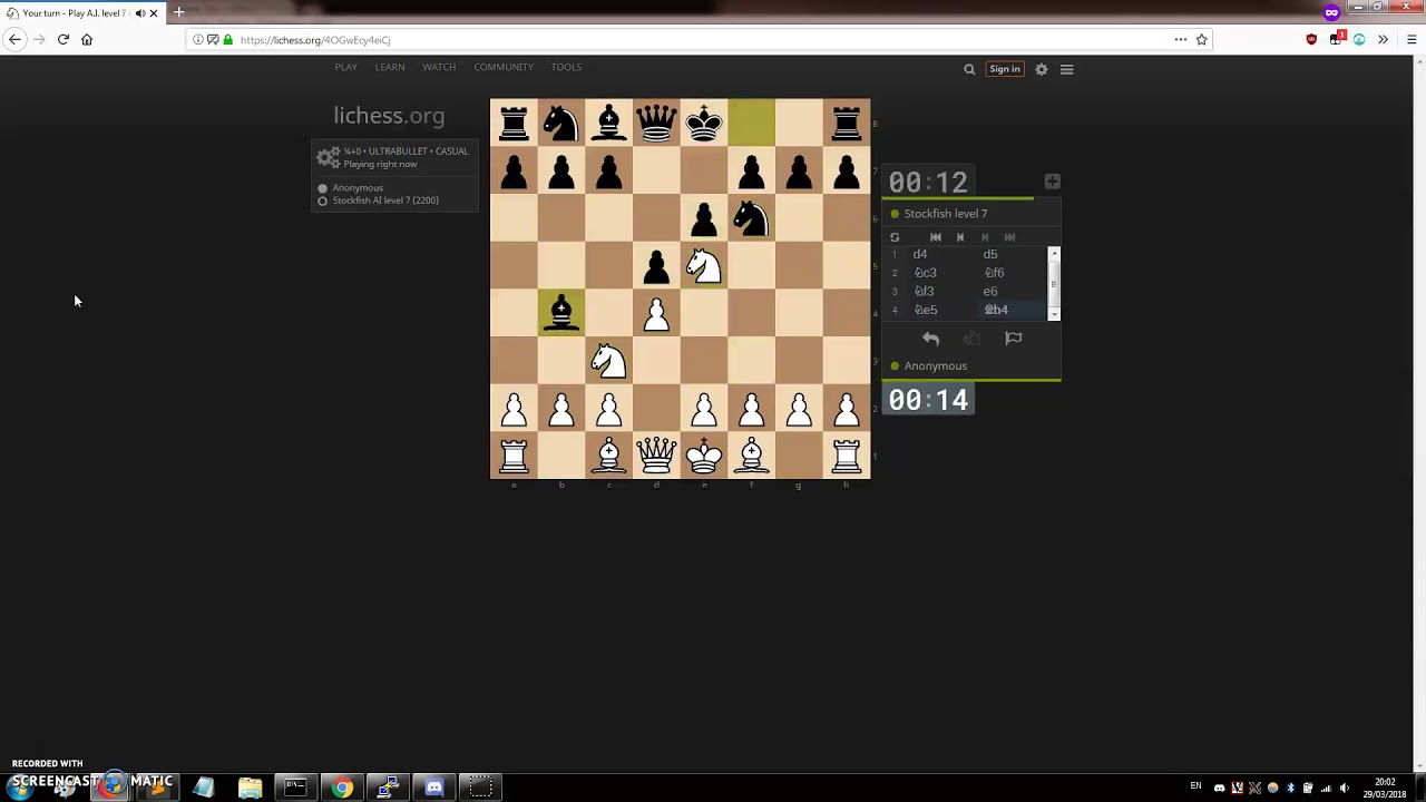 Fully automated Lichess bot