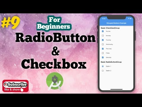 Android tutorial in Hindi for Beginners #9 | How to Create Radio Button & Check Box in Android. thumbnail