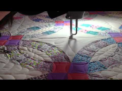 double wedding ring quilt quilting a wedding ring trailer 3662