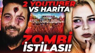 2 YOUTUBER vs TÜM HARİTA! ZOMBİ İSTİLASI YENİ MOD! PUBG Mobile w/ Duygu Köseoğlu