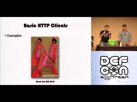 DEFCON 18: Constricting the Web: Offensive Python for Web Hackers 1/4