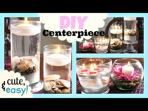 DIY Floating Candle Centerpiece For Your Quince, Wedding, Party, etc ...