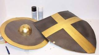 How To Make A Cardboard Shield For Halloween Or Just For Fun