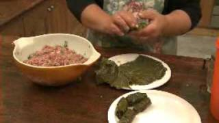 Elizabeth's Greek Kitchen Cooking Class - Dolmathes - Greek Mince-rice Stuffed Vine Leaves