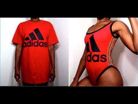 HOW TO: DIY ADIDAS BODY SUIT 😻 Clothing Transformation | increesemypiece thumbnail