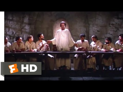 The Greatest Story Ever Told (1965) - The Last Supper Scene (8/11) | Movieclips