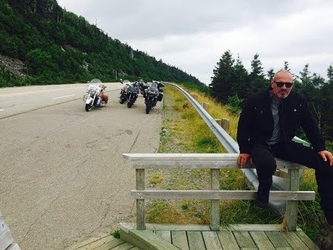 """Motorcycle  Ride """" The Cabot Trail """"  Nova Scotia 2017 Part I"""