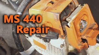 Stihl Ms Repair Being Somewhat Run Over