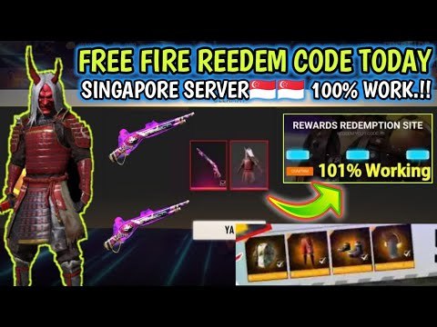 Free Fire Reedem Code Today For Singapore Server🇮🇩💓🇸🇬 | New Reedem Code Free Fire | FF Reedem Code❗