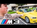 LEARNING TO DRIVE STICK IN A BMW M3!!