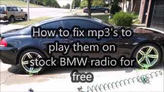 Mp3 songs don't play on bmw stereo? Here is how to fix it in 2 minutes!!!