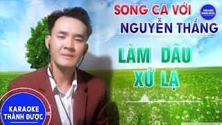 Karaoke   Liên Khúc Làm Dâu Xứ Lạ   Thiếu Giọng Nữ   Song Ca Với Nguyễn Thắng