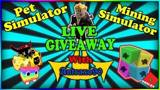 Pet Simulator Roblox Giveaway Rainbow Core Shock and more antraxo90
