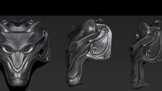 Creating shoulderpads with Zbrush Timelapse