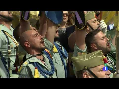 Traslado Cristo de la Buena Muerte por los legionarios - M�laga 29-03-18 im�genes TVE