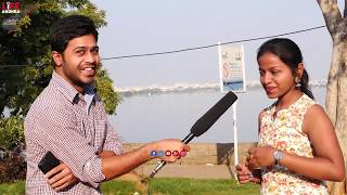 See This Girl Reaction For తికమక Question At Hyderabad    Funny Videos    Life Andhra Tv