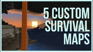5 Custom Minecraft Survival Maps For 1.13+ Video