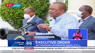 Executive Order Uhuru Abolishes The Presidency The Office Of DP To Be Under OP