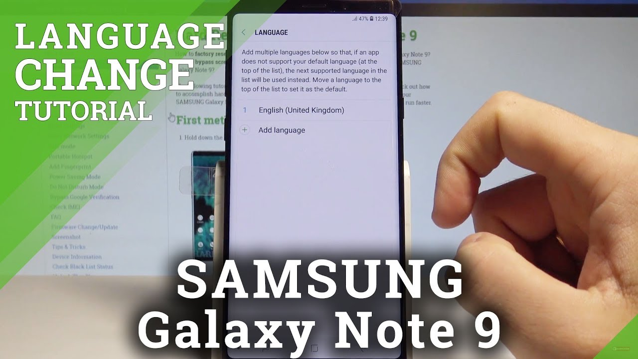 How to Change Language on SAMSUNG Galaxy Note 9 - Set Up Language  |HardReset Info