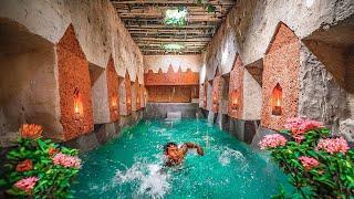 Restoration Abandoned Underground Temple & Decoration with Beautiful Swimming Pool Underground