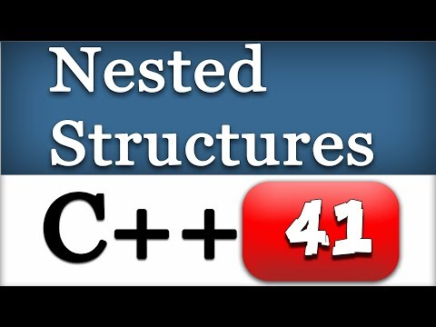41 | Nested Structures and C++ Dot Operator | CPP Programming Video Tutorials
