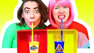 DON'T CHOOSE THE WRONG MYSTERY DRINK CHALLENGE | Prank Wars by ideas 4 Fun CHALLENGE