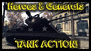 ► Heroes and Generals - Tank Gameplay - M4A3E8 Sherman | H&G Tank Action