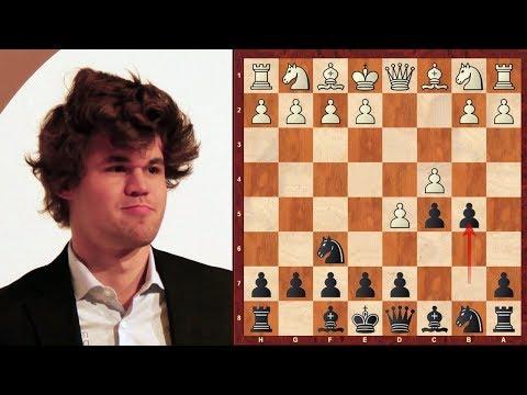 Classic Chess Game: Magnus Carlsen Benko Gambit crush! - 2006 (Chessworld.net)