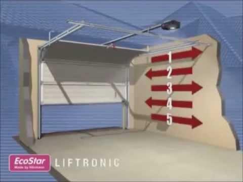 montagevideo garagentor antrieb liftronic 700 und 800. Black Bedroom Furniture Sets. Home Design Ideas