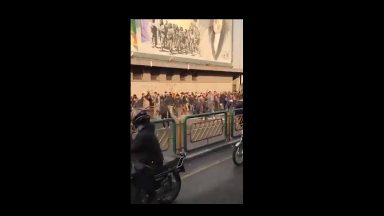 "TETHRAN, Iran, June 25, 2018. Protesters chanting: ""Death to the Dictator"""