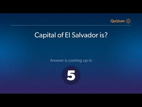 Capital of El Salvador is?   Countries and Capitals Quiz