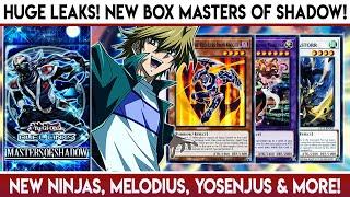 Yu-Gi-Oh! Duel Links   HUGE LEAKS! NEW BOX MASTERS OF SHADOW! NEW Ninjas, Melodius, Yosenjus & More!