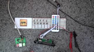 #002 MP3 магнитола встраиваемая с Bluetooth и как ей управлять (Decode Board Module) ZTV-M011BT