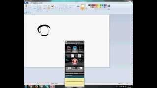 How to draw anime eyes on MS paint (kako nacrtati anime oci na MS paintu)