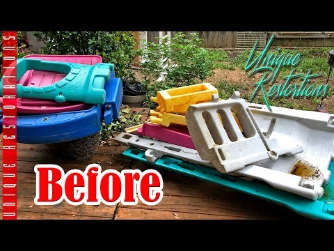 DIY Playhouse Makeover BEFORE And AFTER Fisher Price Castle Climber