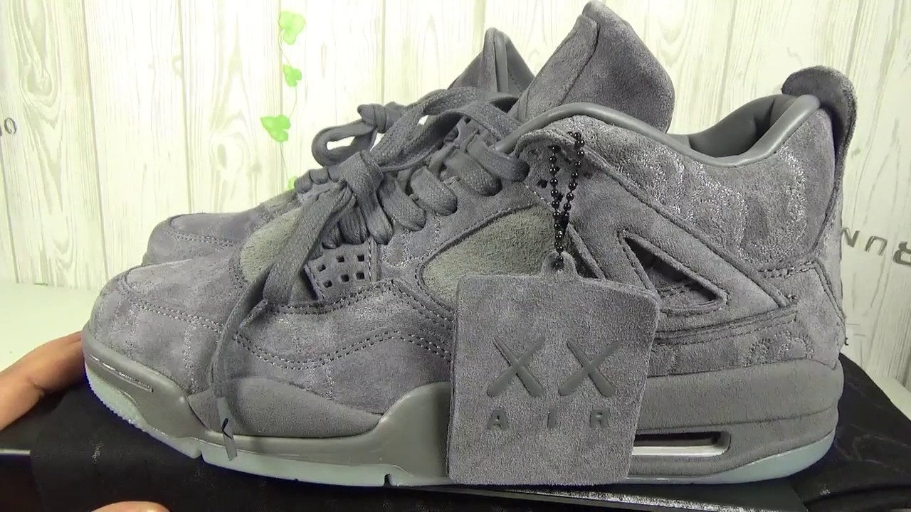 3c2aa0180e0 AIRJORDAN 4 RETRO KAWS authentic quality review by sams cabin - YouTube