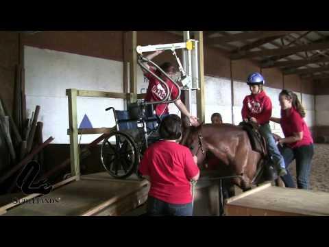 Paardrijden met de wandlift en Surehands tilbeugel