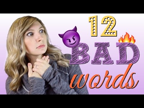 12 BAD Words to IMPROVE YOUR VOCABULARY
