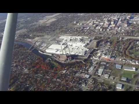 Aerial Tour Flight over Lansing Michigan - From Takeoff 10/22/15