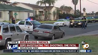 San Diego police investigating two shootings just miles apart