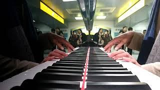 浜松駅新幹線コンコースにあるYAMAHAフルコンピアノで弾いてみた~(^q^)