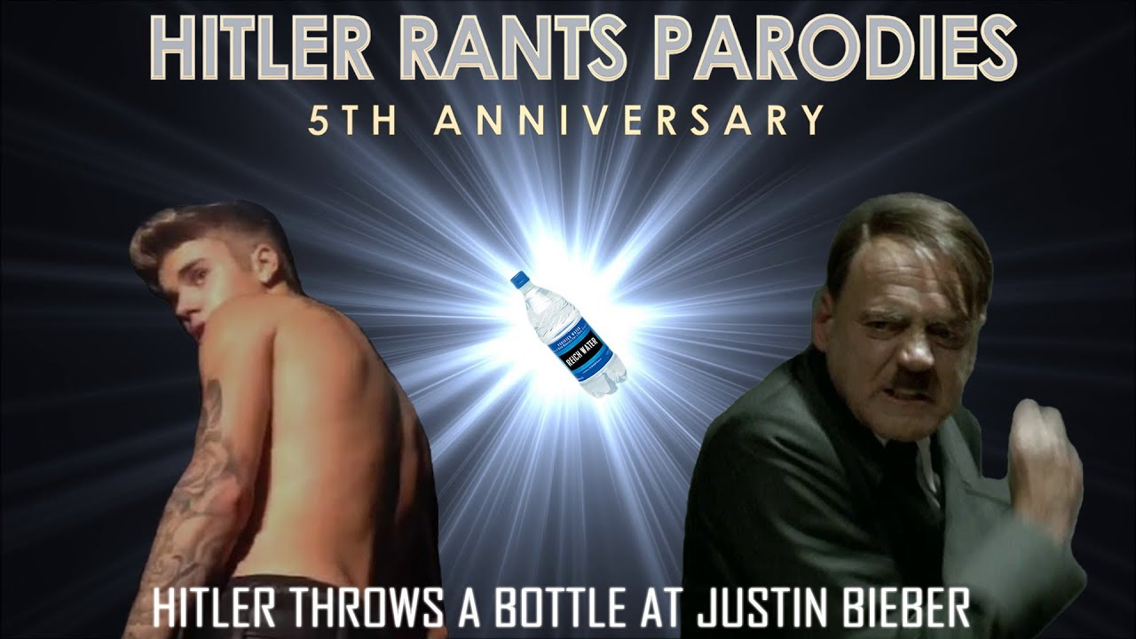 Hitler throws a bottle at Justin Bieber