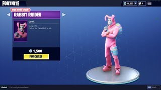 'NEW' RABBIT RAIDER ET BUNNY BRAWLER SKINS IN FORTNITE! Mise à jour de la boutique d'articles 31 mars 2018