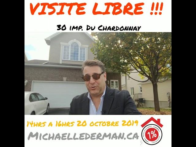 Visite libre 14hrs a 16hes 20 octobre 2019 30 impasse du Chardonnay, aylmer qc