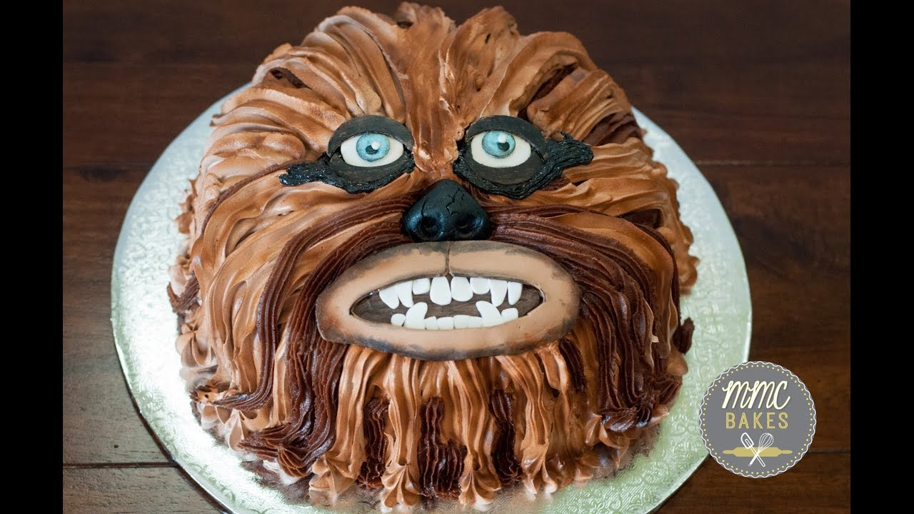 Chewbacca Cake Quick Tutorial Part 2 Mmc Bakes Youtube